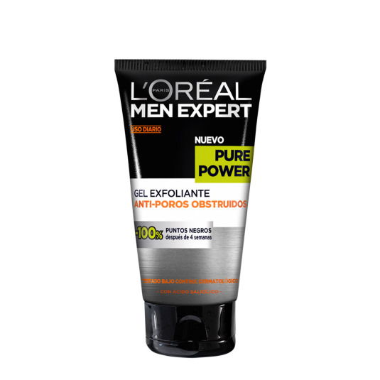 loreal men expert pure power gel exfoliante anti-poros obstruidos