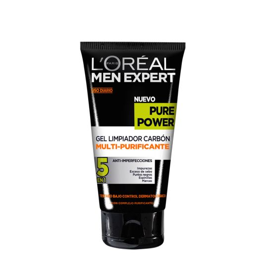 LOREAL MEN EXPERT PURE POWER GEL LIMPIADOR 150ML