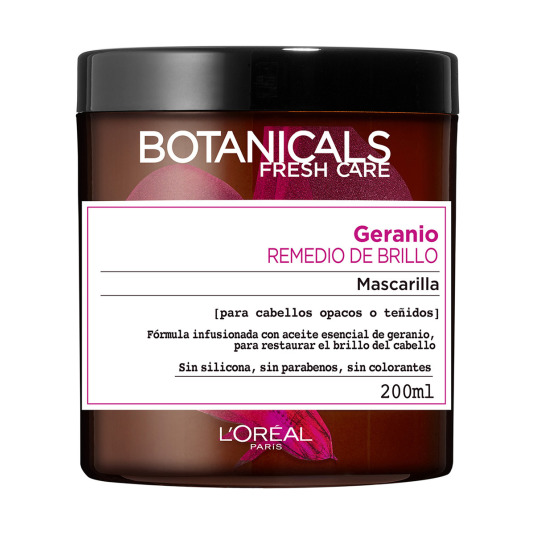 BOTANICALS MASCARILLA GERANIO REMEDIO DE BRILLO 200 ML