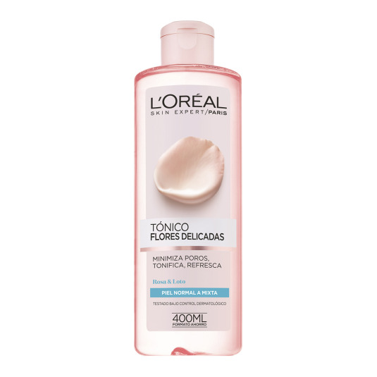 loreal flores delicadas tónico piel normal/mixta 400ml