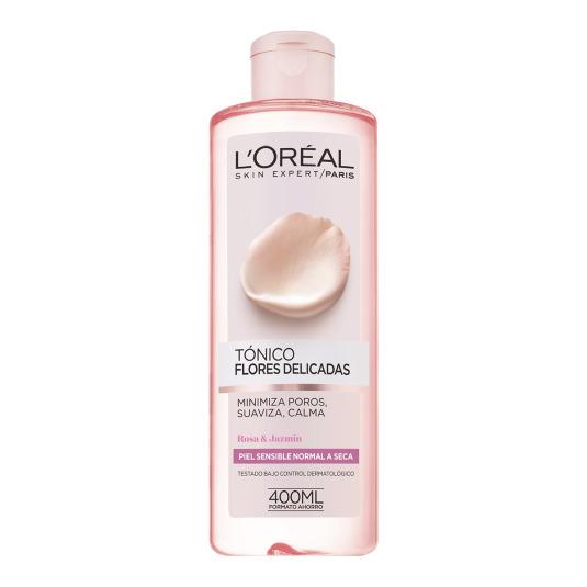 loreal flores delicadas tónico piel sensible/seca 400ml