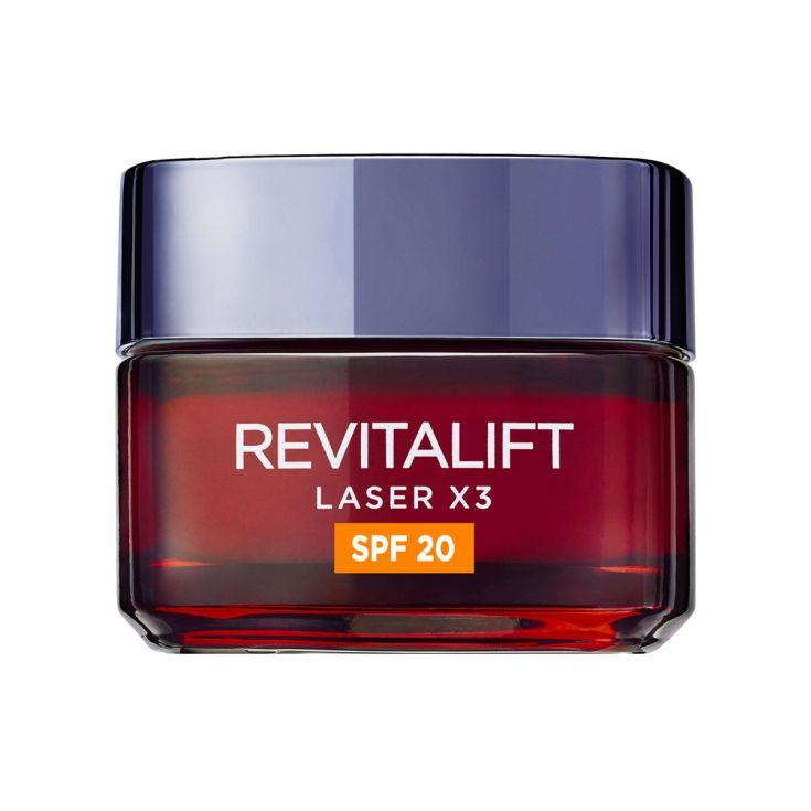 loreal revitalift laser x3 crema día renovadora  spf20 anti-edad 50ml