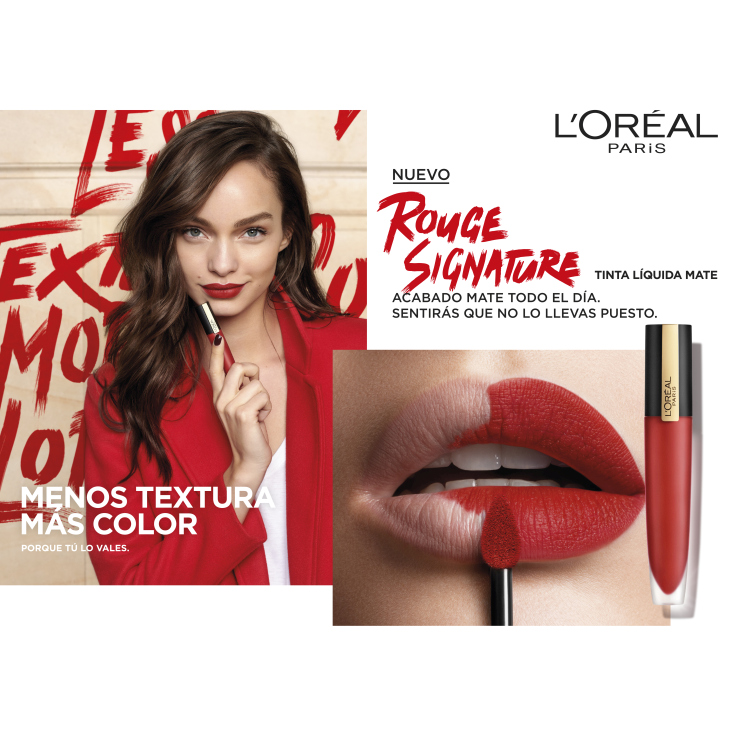 loreal rouge signature labial líquido mate