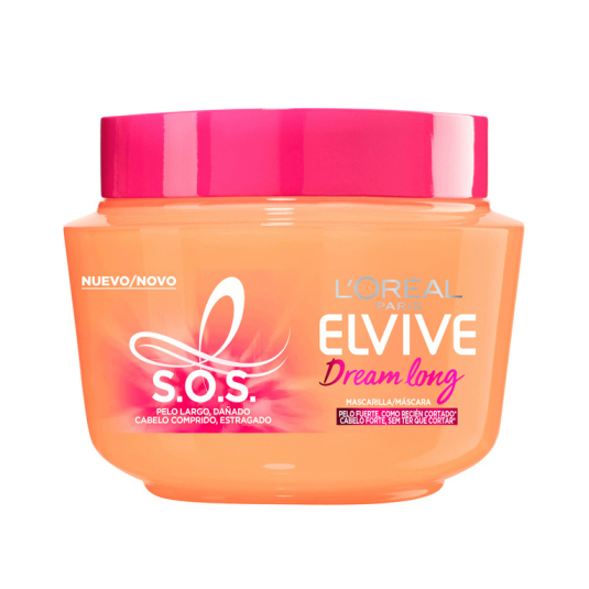 elvive dream long sos mascarilla para pelo largo dañado 300ml