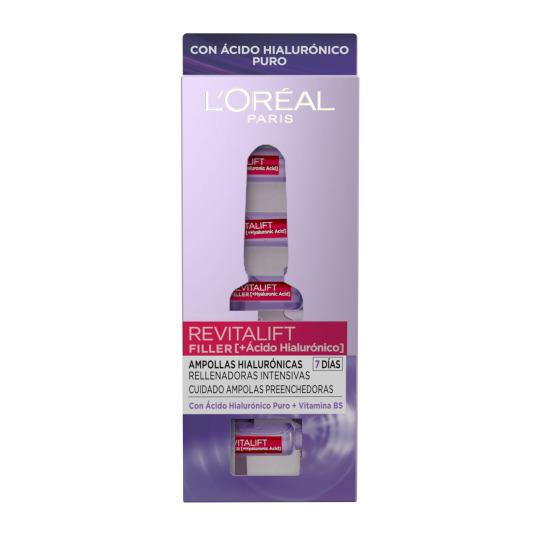 loreal revitalift filler ampollas ácido hialurónico 7uds