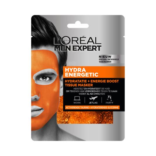 loreal men expert hydra energetic mascarilla de tejido energizante