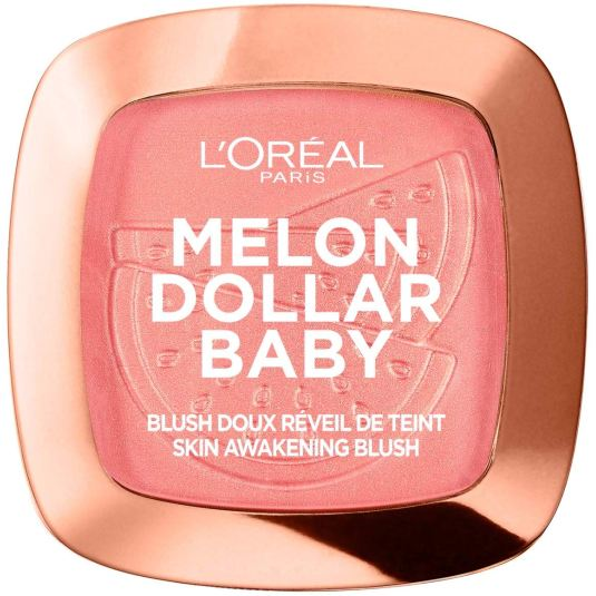 loreal wake up & glow melon dollar baby colorete tono rosado