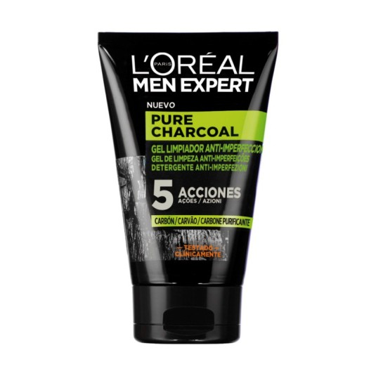 loreal men expert gel limpiador facial 100ml