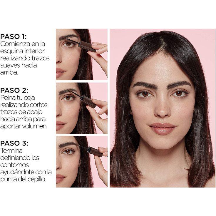 loreal plum & set brow artist mascara de cejas