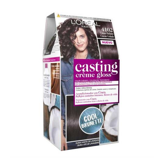 casting crème gloss tinte sin amoniaco nº4102 cacao helado