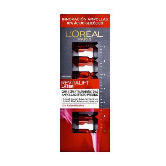 loreal revitalift laser tratamiento 7 dias ampollas efecto peeling 7x1.3ml