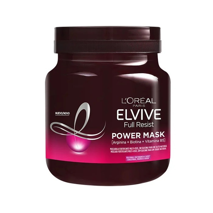 elvive full resist mascarilla capilar fortificante cabello debil 680ml