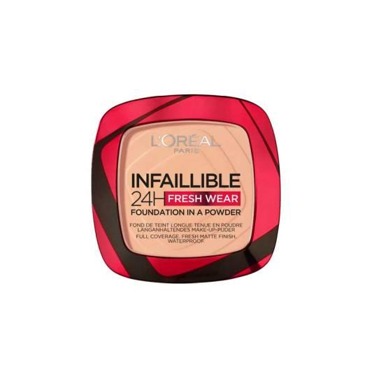 loreal Infaillible 24h fresh wear base de maquillaje en polvo pieles grasas