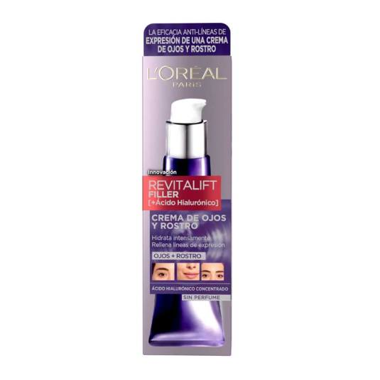 loreal expertise filler crema rostro y ojos + acido hialuronico 30ml