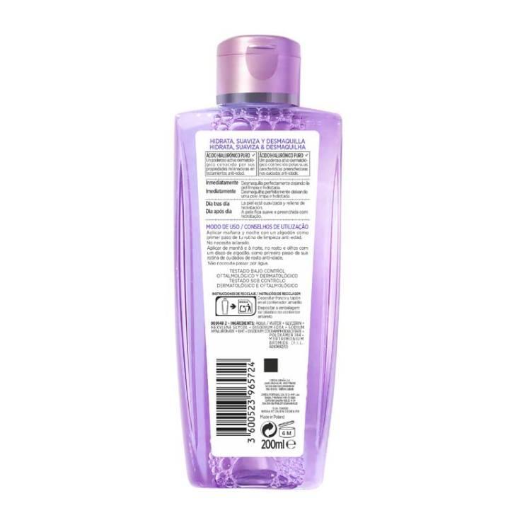 loreal revitalift filler agua micelar rellenadora con acido hialuronico puro 200ml