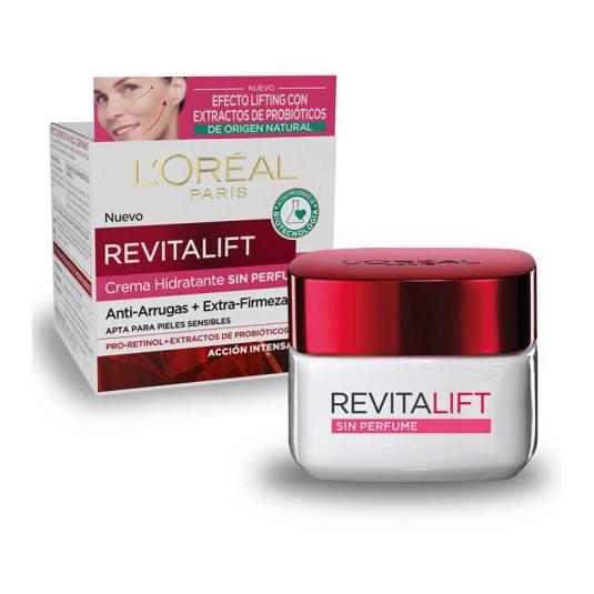 revitalift crema sin perfume hidratante anti-arrugas+extrafirmeza 50ml