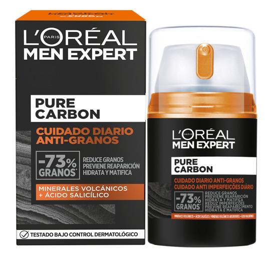 loreal men expert pure carbon tratamiento anti-granos 50ml