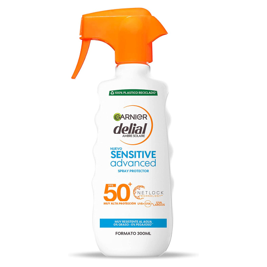 delial sensitive advance spf50+ solar formato familiar pistola 300ml