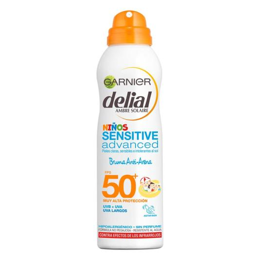 delial sensitive advanced niños bruma anti-arena protectora solar spf50+ 200ml