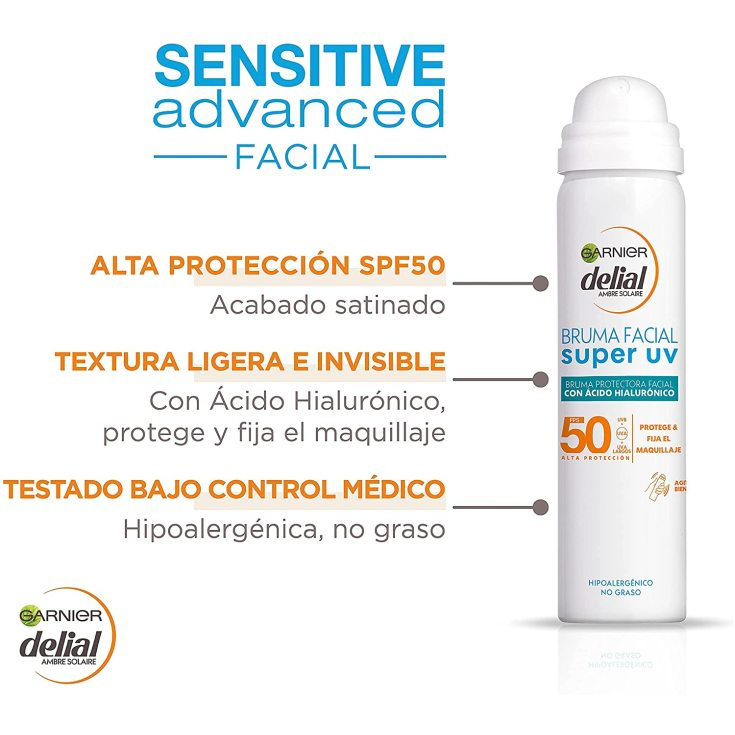 delial sensitive advanced bruma facial fotoprotectora spray spf50 50ml