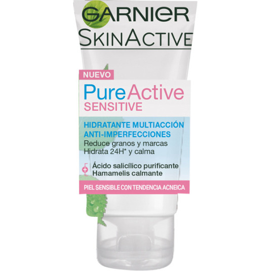 GARNIER PURE ACTIVE SENSITIVE TRATAMIENTO HIDRATANTE ANTI-IMPERFECCIONES