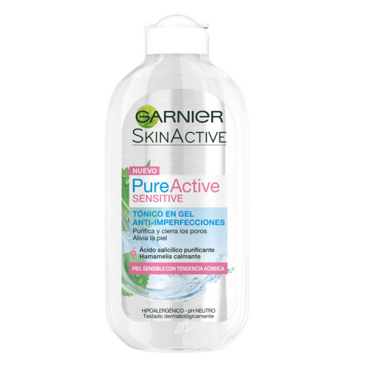 GARNIER PURE ACTIVE SENSITIVE TÓNICO EN GEL