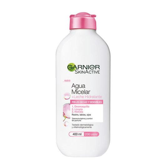 garnier skin active agua micelar + leche hidratante 400ml