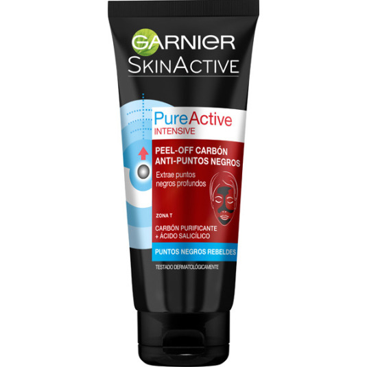 garnier skin active mascarilla peel-off carbón anti-puntos negros 50ml
