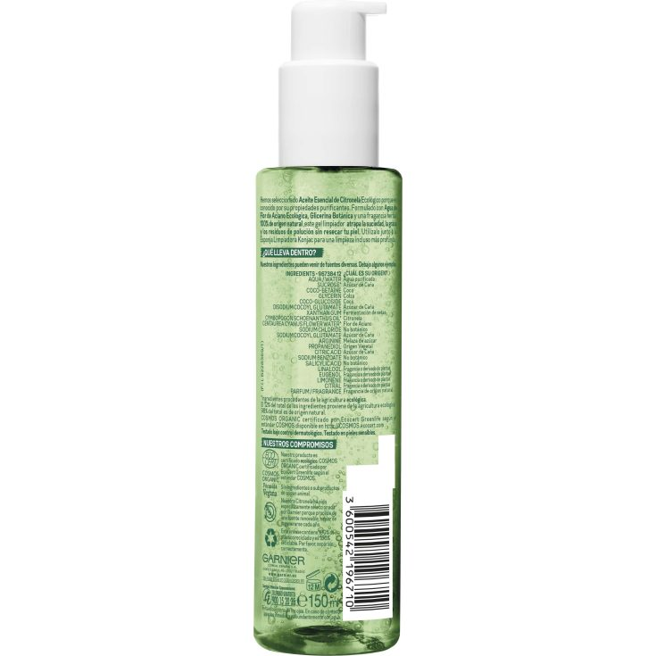 GARNIER BIO GEL LIMPIADOR LEMONGRASS 150ML