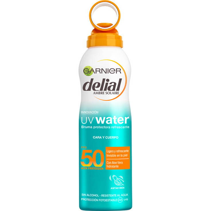 delial uv water bruma protectora refrescante spf50 invisible 200ml