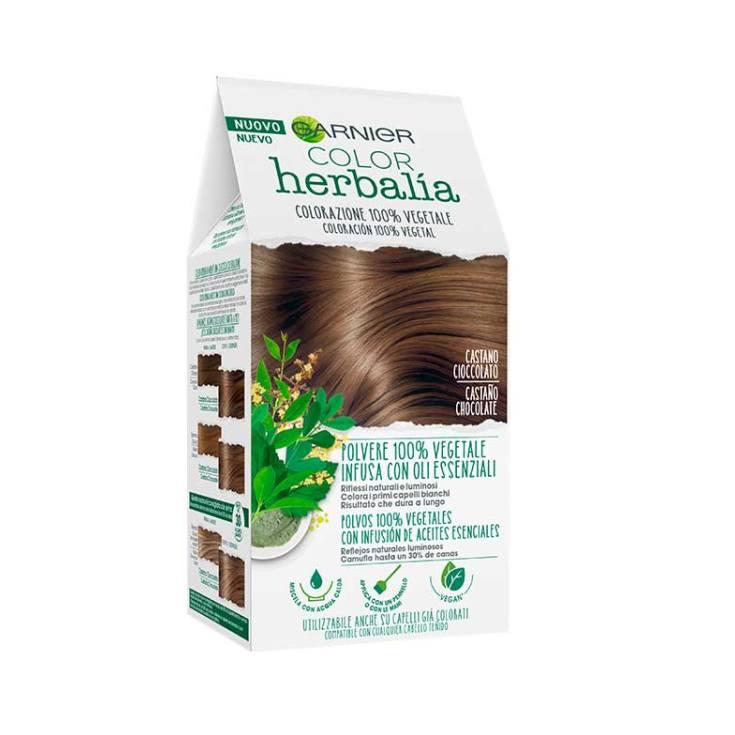 garnier herbalia coloracion capilar 100% vegeta chocolate