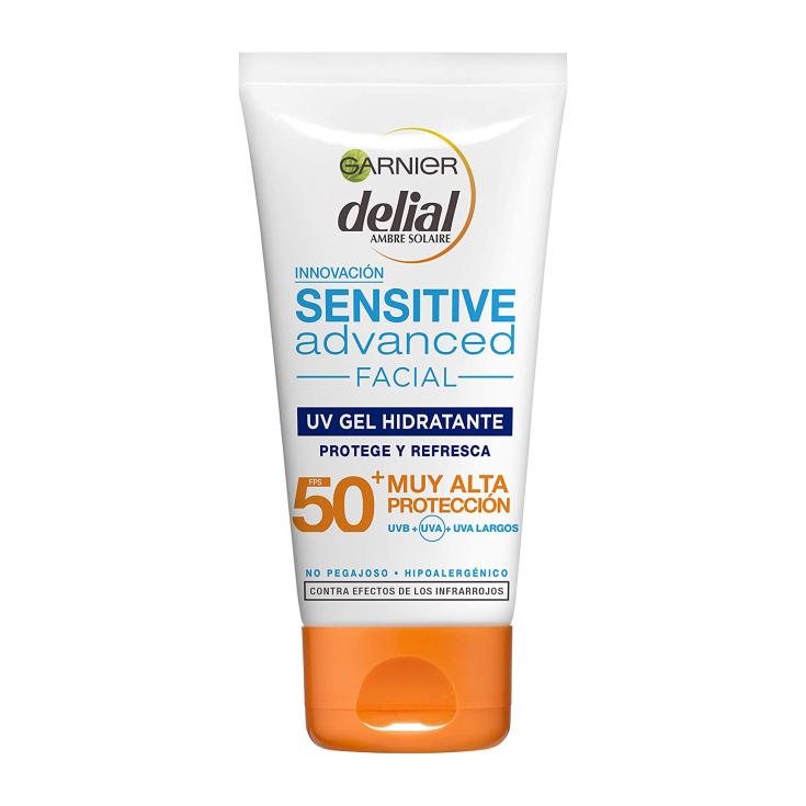 delial sensitive advanced crema facial hidratante textura gel spf-50+ 50ml