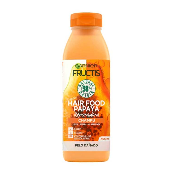 fructis hair food papaya champú reparador 350ml