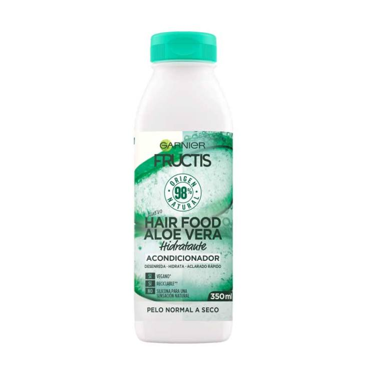 fructis hair food aloe vera acondicionador hidratante 350ml