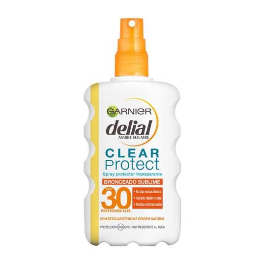 delial clear protect bronceado sublime spf30 protector solar transparente spray 200ml
