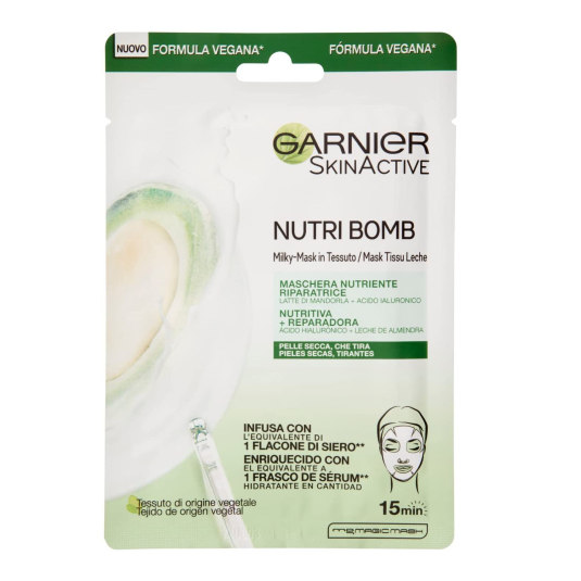 garnier skin active nutri bomb mascarilla facial nutritiva y reparador