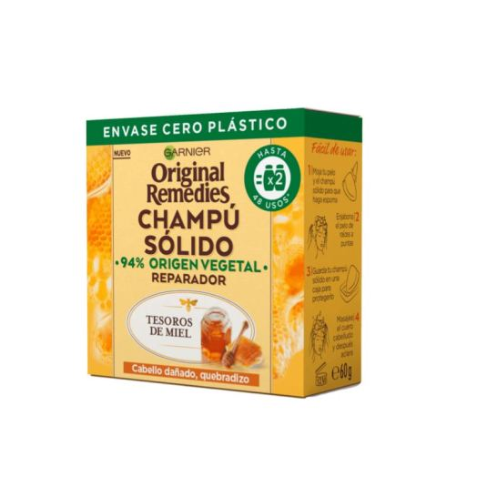 original remedies champu solido tesoros de miel cabello dañado-quebradizo formato pastilla 60g