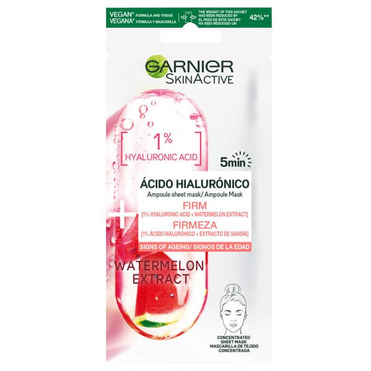 garnier skinactive mascarilla facial reafirmante acido hialuronico y sandia