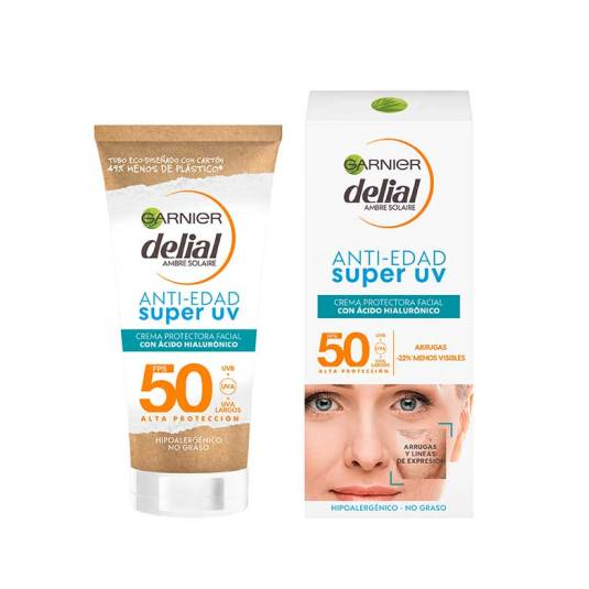 delial anti-edad super uv crema protectora facial 50ml