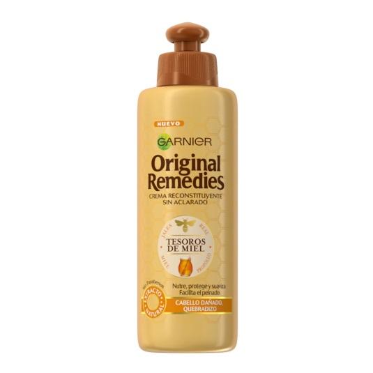 original remedies crema reconstituyente sin aclarado tesoros de miel 200ml