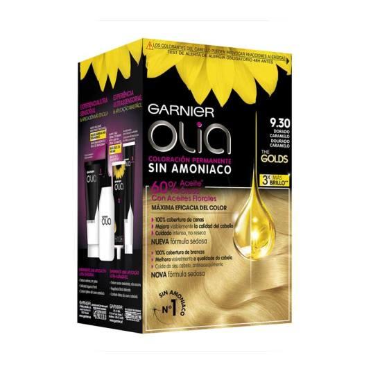 olia tinte coloracion permanente sin amoniaco y con aceites naturales 9.30 dorado caramelo
