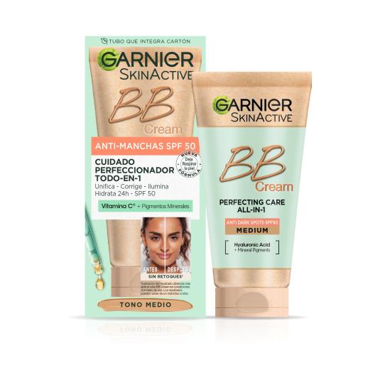 garnier skinactive bb cream pieles mixtas a grasas oil free tono light 50ml