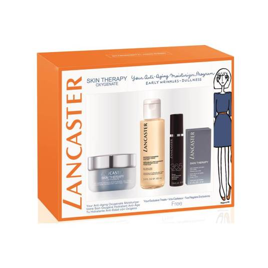 LANCASTER SET SKIN THERAPY OXYGENATE 4 PIEZAS
