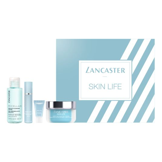 lancaster set skin life cream 50ml 4 piezas