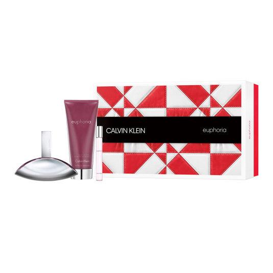 calvin klein euphoria woman eau de parfum cofre regalo 3 piezas