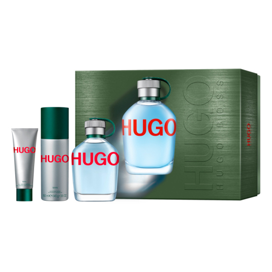 hugo man eau de toilette 125ml cofre 3 piezas