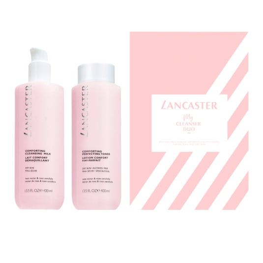 lancaster my cleanser duo leche + tonico 400ml set 2 piezas