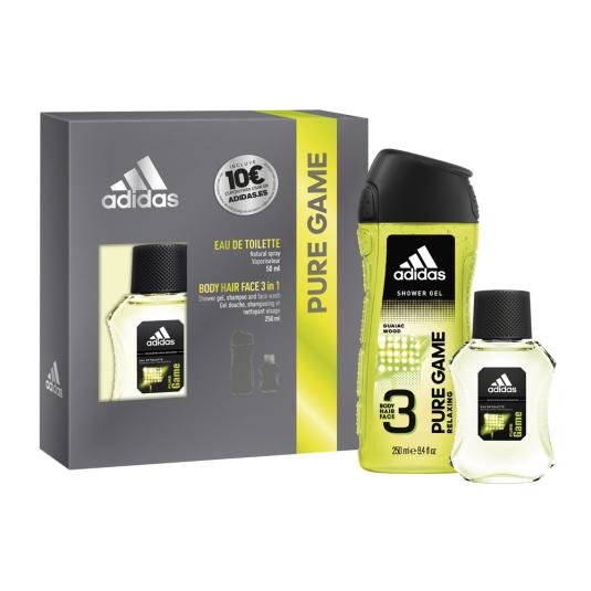 adidas pure game eau de toilette 50ml estuche 2 piezas
