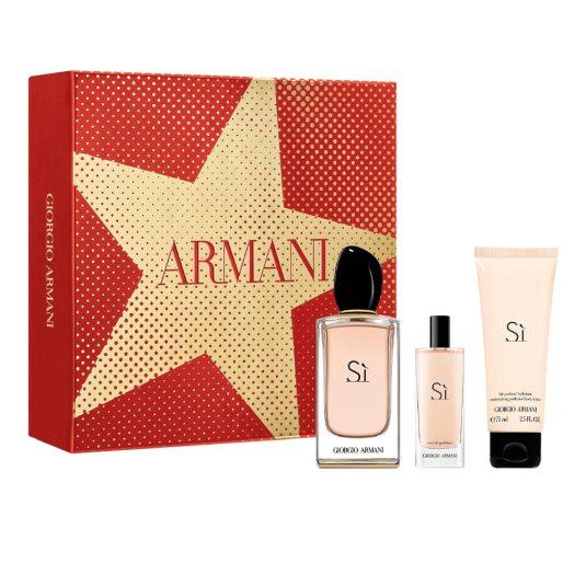 armani si eau de parfum 100ml cofre regalo 3 piezas