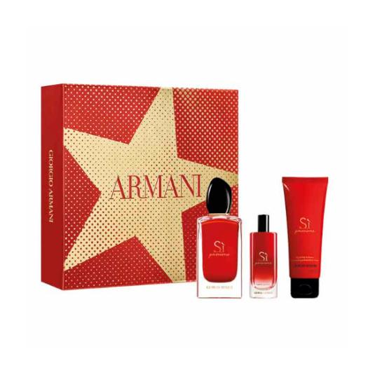 armani sì passione eau de parfum cofre 3 piezas